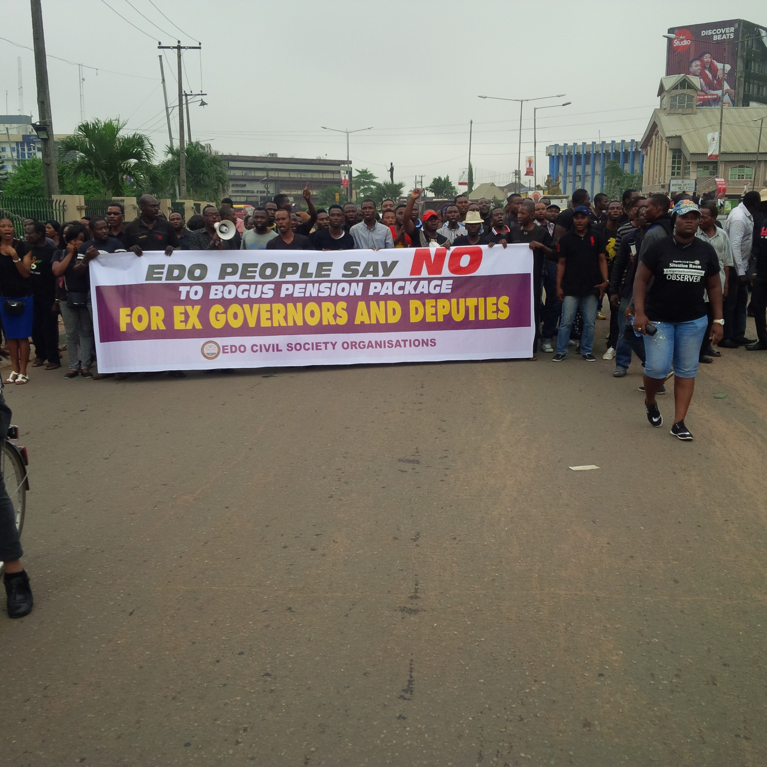 Bloody protest in Benin Over N300m approved for Oshiomhole, Deputy
