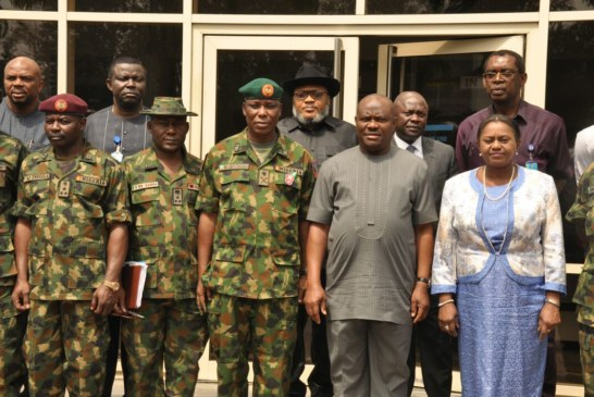 Governor Wike says RSG will support  Nigerian Army 6 Division to fight crime