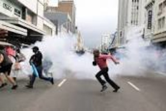 South African police fire tear gas to disperse anti-immigrant protesters