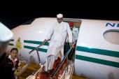 President Buhari's plane touches down in Kaduna International airport at exact 7:41am.