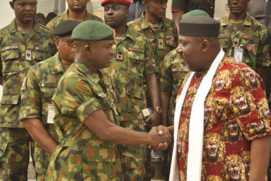 GOVERNOR ROCHAS OKOROCHA URGES THE MILITARY TO ENSURE FREE & FAIR ELECTION