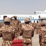 Boko Haram: Gen. Irabor, Service Chiefs Storm Maiduguri