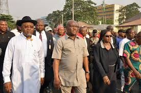 WIKE LEADS PROTEST IN PORT HARCOURT