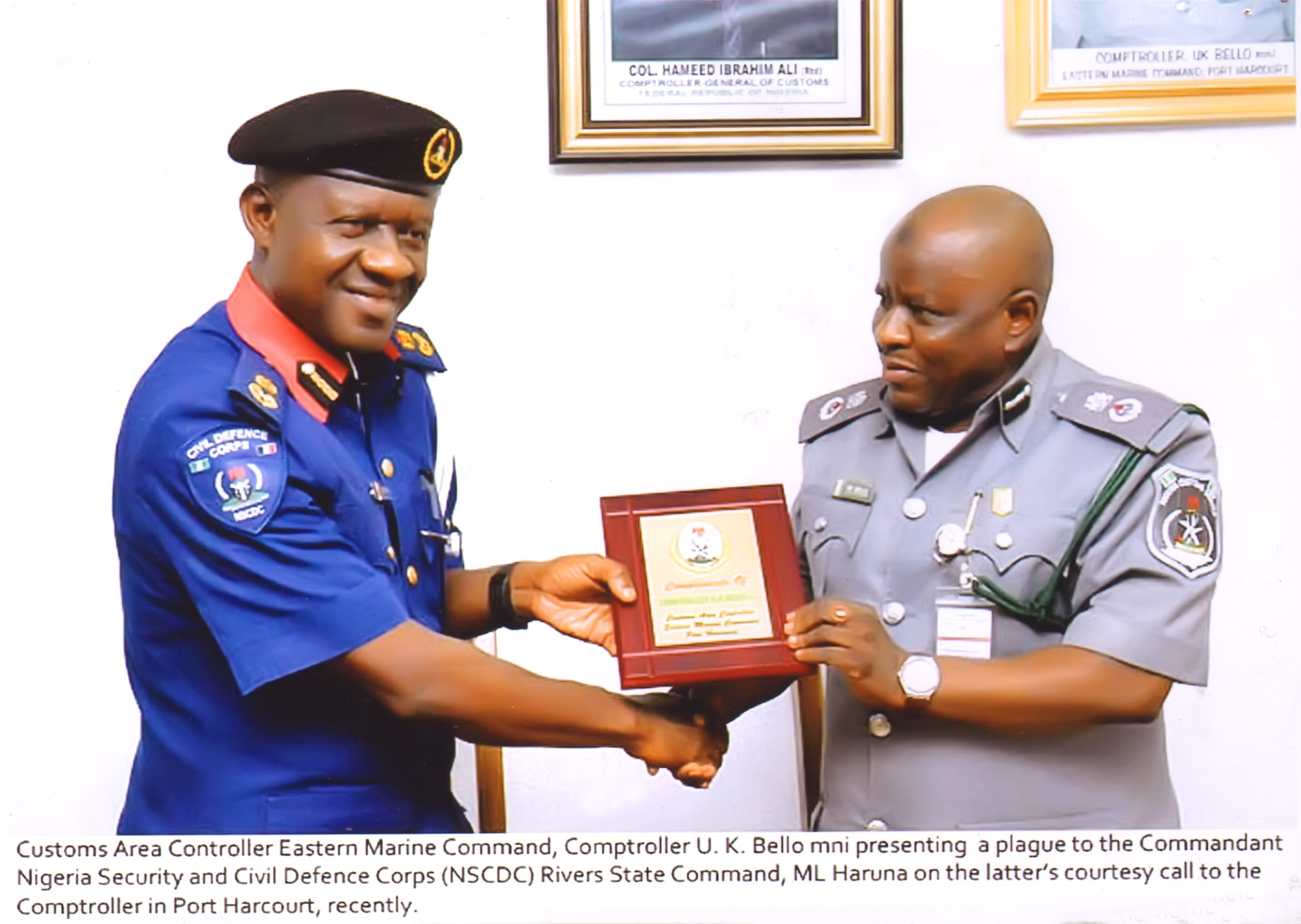 Nigeria Customs Service and Civil Defence Synergy for effective performance