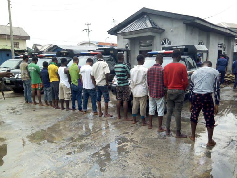 NSCDC Arrested 14 Oil Thieves In Rivers State